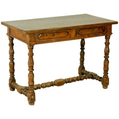 Italian Walnut Writing Table, 19th Century