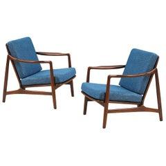 Tove & Edvard Kindt-Larsen Lounge Chairs for France & Daverkosen