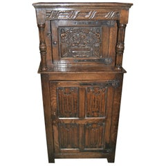 19th Century Miniature English Oak Court Cupboard
