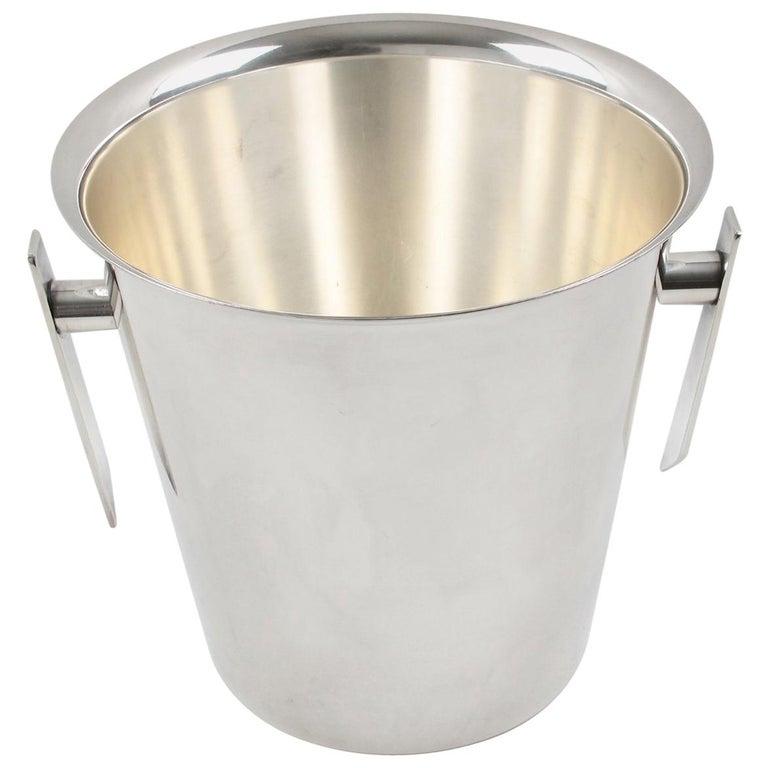 Saint Medard France 1950 Modernist Silver Plate Champagne Ice Bucket Wine Cooler