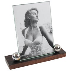 Art Deco 1930s Macassar Mahogany and Chrome Picture Photo Frame