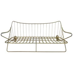 Wrought Iron Outdoor Sofa Frame by John Salterini