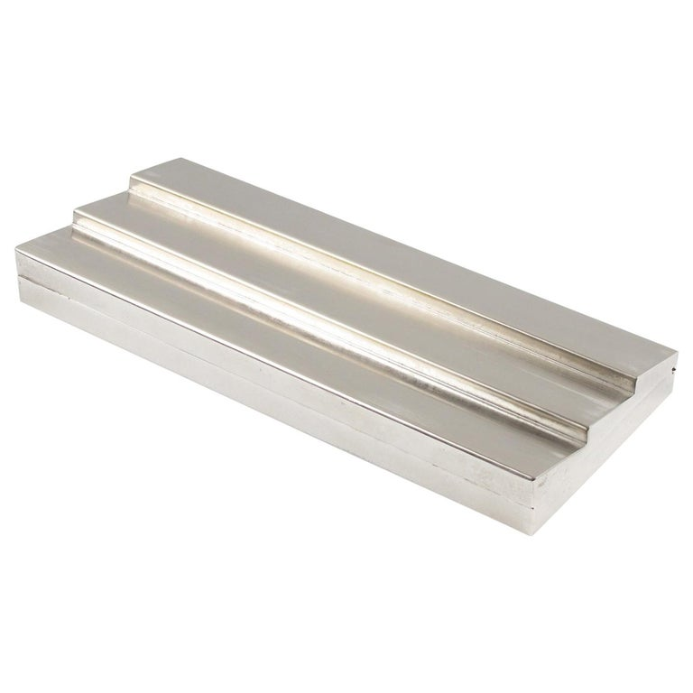 Cleto Munari 1980s Modernist Silver Plate Decorative Box