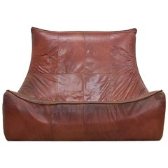 """The Rock"" Leather Sofa by Gerard Van Den Berg for Montis, Netherlands, 1970s"