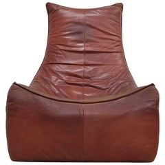 """The Rock"" Leather Easy Chair by Gerard Van Den Berg for Montis, 1970s"