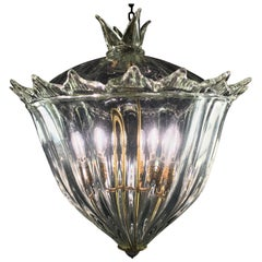 """Chandelier Lantern """"The Queen"""" by Barovier & Toso, Murano, 1940s"""