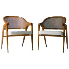 Edward Wormley for Dunbar, Pair of Armchairs, Model 5480, circa 1955