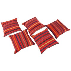 Antique Pillow Cases Fashioned from a Late 19th Century Mazandaran Kilim