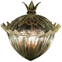 """Chandelier Lantern """"The Queen Mother"""" by Barovier & Toso. Murano, 1940s"""