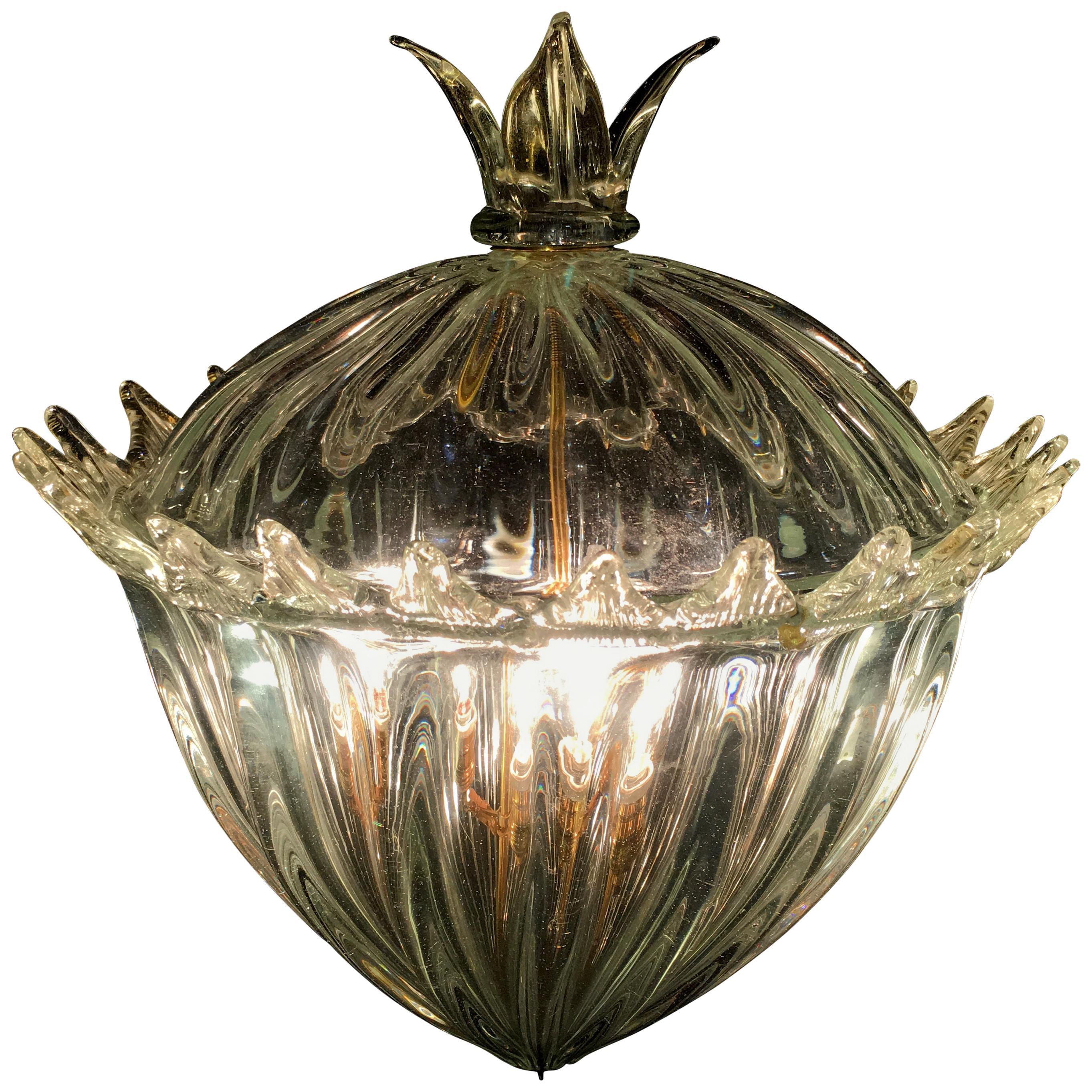 Chandelier Lantern U0026quot;The Queen Motheru0026quot; By Barovier U0026amp; Toso.