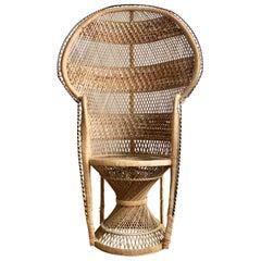 Woven Rattan Peacock Chair