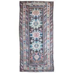 Antique Kazak Kelleh Rug, Caucasian Rug