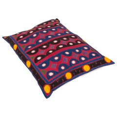 Floor Pillow Made from a Traditional Mid-20th Century Samarkand Suzani
