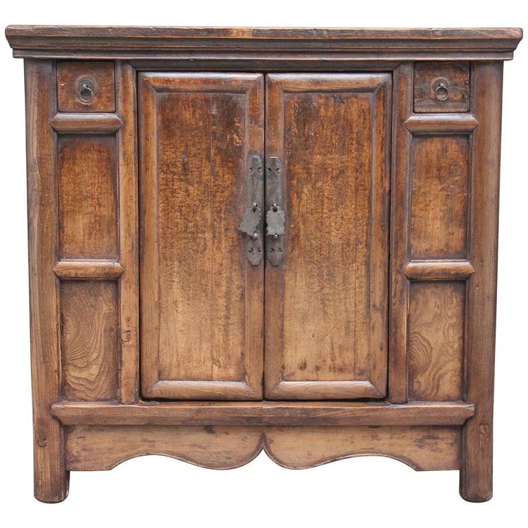 19th Century Chinese Elm Rustic Dresser