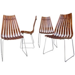 Midcentury Scandia Chairs by Hans Brattrud for Hove Mobler