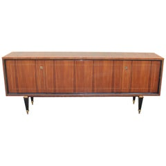 French Art Deco Exotic Macassar Bony Sideboard or Buffet, circa 1940s