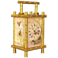 Fine Porcelain Bamboo Carriage Clock