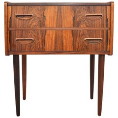 Danish Modern Tall Two-Drawer Rosewood Chest