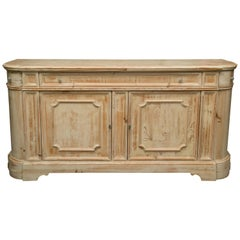 Cream-Glazed Heart Pine Buffet