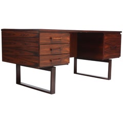 Rosewood Executive Desk by Henning Jensen and Torben Valeur for Dyrlund