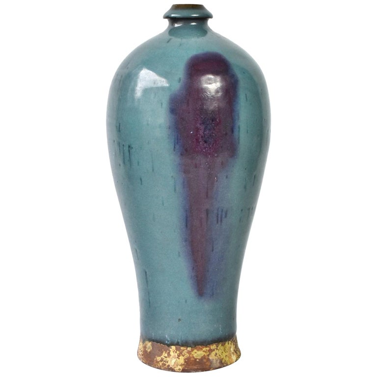 Chinese Jun Ware Porcelain Vase Tang Dynasty Style Vase 1 For Sale