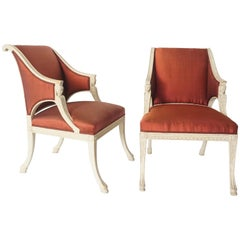Gustavian Chairs by Swedish Royal Court Chair-Maker Ephraim Ståhl, circa 1800