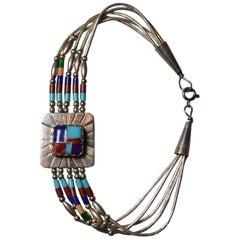 Native American Vintage Zuni Silver Bracelet