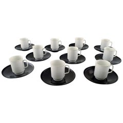 Tapio Wirkkala for Rosenthal Studio-Line Porcelain Noire, Ten Pc. Coffee Service