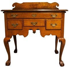 Chippendale Tiger Maple Lowboy/Server, America, circa 1770