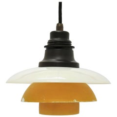 Vintage PH 2/2 Pendant 'Patented' with Glass Shades, 1930s, Poul Henningsen