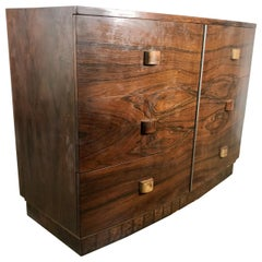 1930s Art Deco Brazilian Rosewood Six-Drawer Dresser by Gilbert Rohde