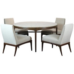 Travertine Table Four Chairs