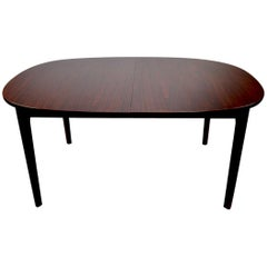 Danish Oval Rosewood Dining Table by AM Mobler