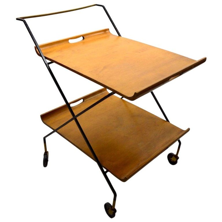 Mid Century Cart by Baughman for Murrey Furniture For Sale
