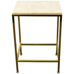 Mid-Century Modern Style Side Table with Marble Top