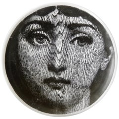 Midcentury Fornasetti Face Plate, Tema e Variazione N90
