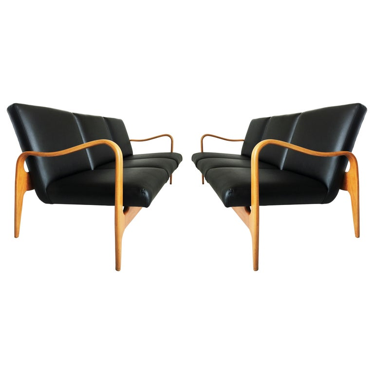 Pair of Modernist Thonet Bentwood Sofas
