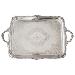 Victorian Silver Tea or Drinks Tray, Sheffield, 1899 by Atkin Brothers