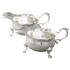 Pair of George II Silver Sauce Boats, London, 1737 by Benjamin West