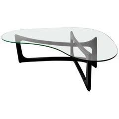 Amoeba Glass Coffee Table by Adrian Pearsall for Craft Associates