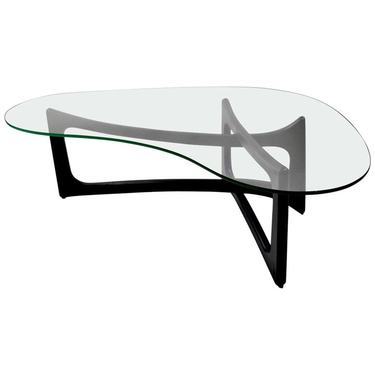 Amoeba Glass Coffee Table by Adrian Pearsall for Craft Associates For Sale