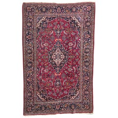 Antique Persian Rugs, Vintage Kashan Rug, Carpet from Persia, Fine Antique Rugs