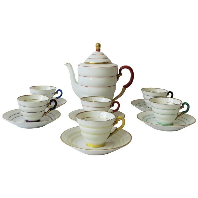 Scandinavian Modern Porcelain Espresso Coffee Demitasse Set