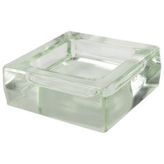 Designed by Le Corbusier for Lumax Molded Glass Desk Accessory Cigar Ashtray
