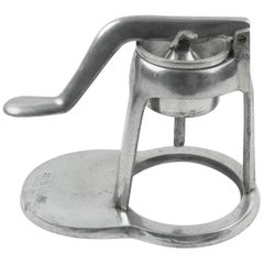 1940s French Mechanical Aluminum Lemon Squeezer Juicer