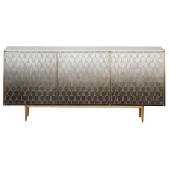 Bethan Gray Nizwa Three-Door Cabinet Monochrome / Brass