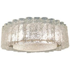 Midcentury Six-Light Glass Flush Mount by Doria, circa 1960s