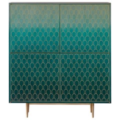 Bethan Gray Nizwa Four-Door Tall Cabinet Jade / Brass