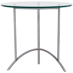 Ronald Schmitt Designer Glass Coffee Table Silver Round