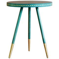 Bethan Gray Shamsian Stud Side Table Jade / Brass